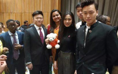 北京王府学校高三年级学生王冕晨受邀参加联合国经社理事会第六届青年论坛