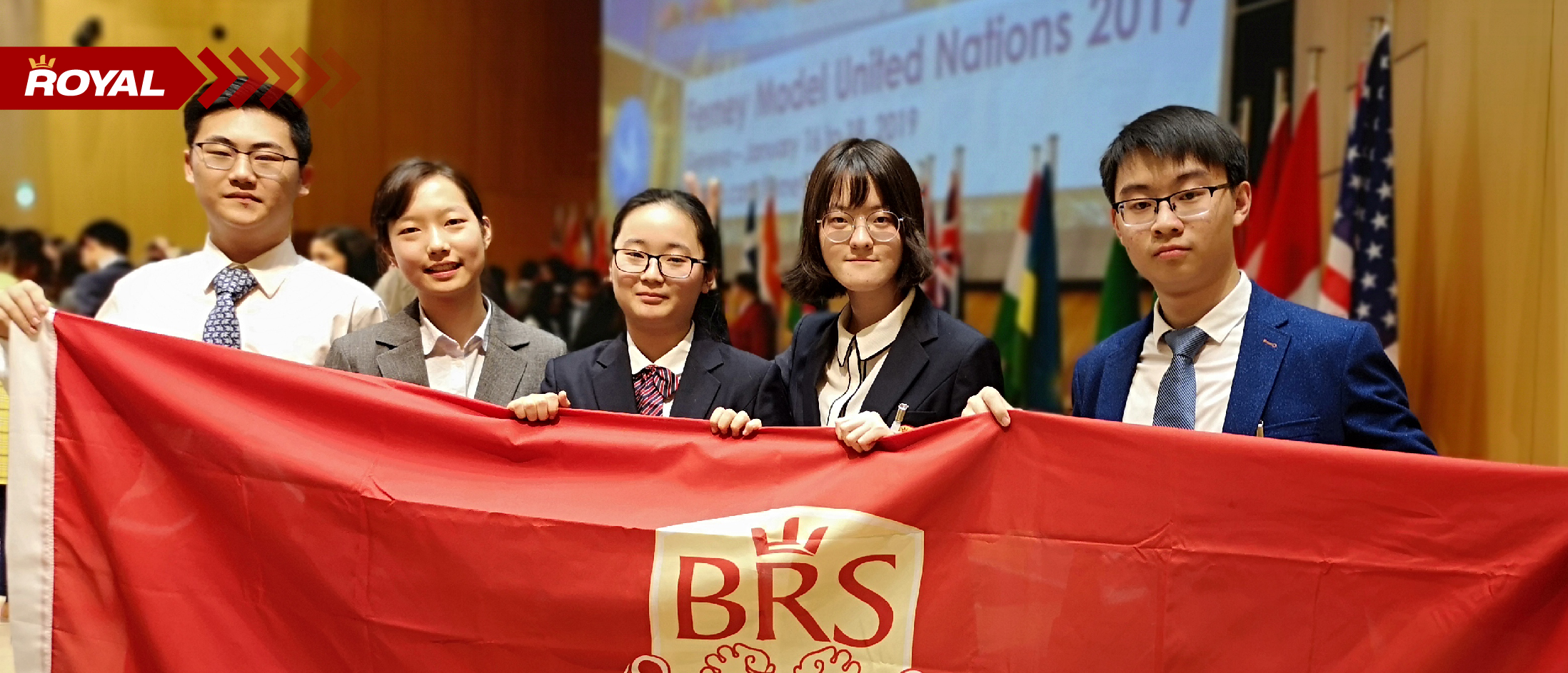 BRS the only school in China invited and designated 5 students to attend the FerMUN 2019