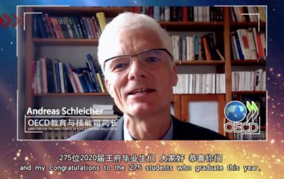 Words of Encouragement from Mr. Andreas Schleicher, Director for the Directorate of Education and Skills OECD